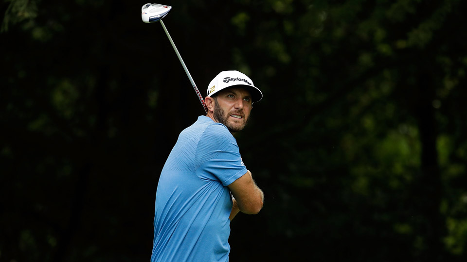 Dustin Johnson during the first round of the 2016 BMW Championship at Crooked Stick.
