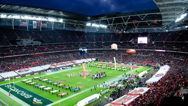 Packages are available for all three of the NFL's games in London in October 2016.