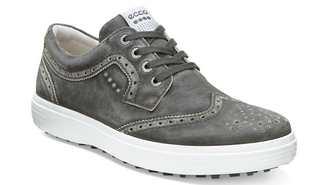 "Available in both sneaker and Brogue options for both men and women, the new Casual Hybrid from ECCO is designed to be worn equally well both on and off the course. Features of the new shoe include water repellent leather uppers made with Ecco's proprietary Hydromax treatment and a patented E-DTS outsole with 100 molded traction elements that provide close to 800 angles for solid grip in all types of course conditions.  <a href=""http://www.pgatoursuperstore.com/ecco-casual-hybrid-ii-mens-golf-shoe/1000000000491.jsp?site_referrer=golf.com"" target=""blank"">BUY NOW</a>"