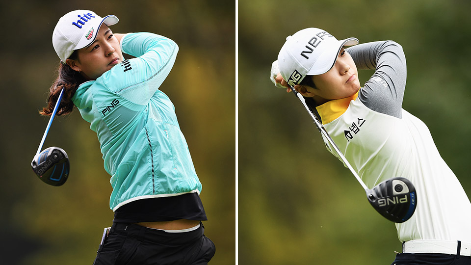 South Koreans In Gee Chun and Sung Hyun Park share the lead after Round 1 of the Evian Championship.
