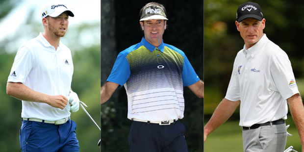 Will Daniel Berger (from left), Bubba Watson or Jim Furyk tee it up at Hazeltine?