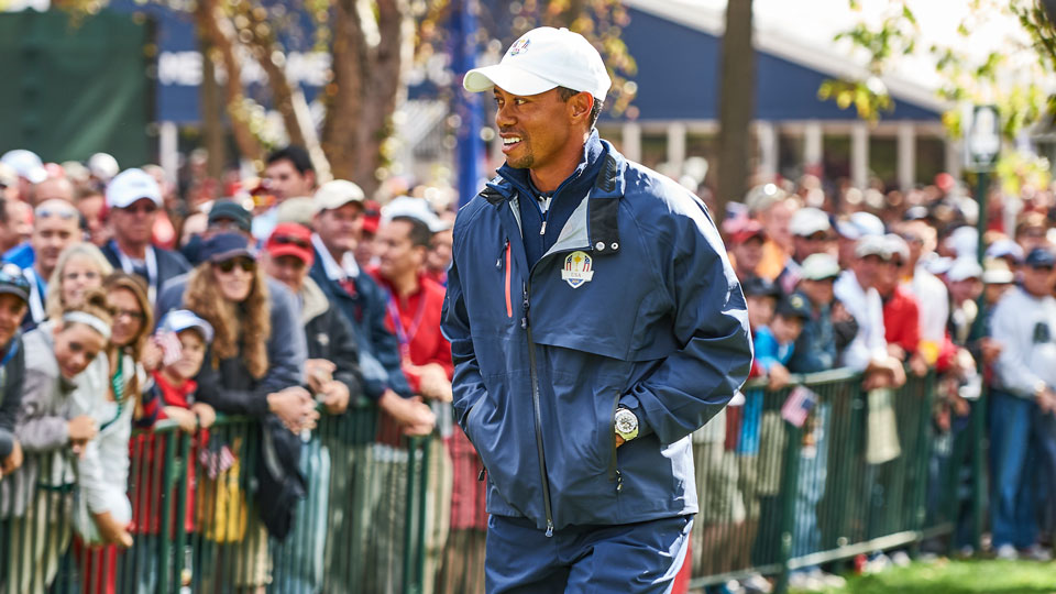 Davis Love III named Woods a vice captain for the upcoming Ryder Cup back in 2015.
