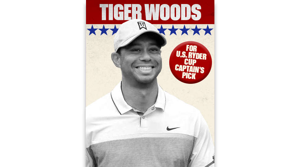 Who should Davis Love pick to round out his team? Tiger, of course!