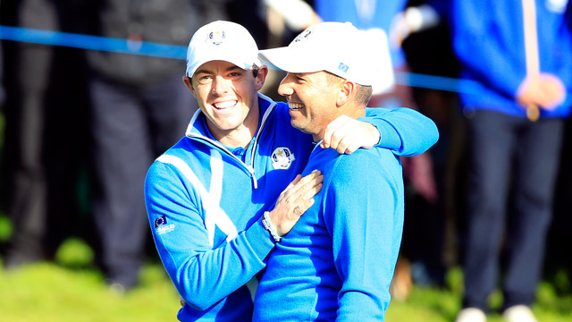 Rory and Sergio led Europe to an easy victory in 2014.