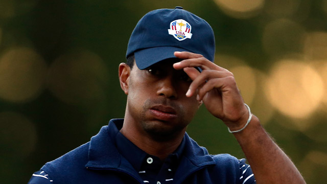 In what could be his final Ryder Cup, Woods finished with a 0-3-1 record.