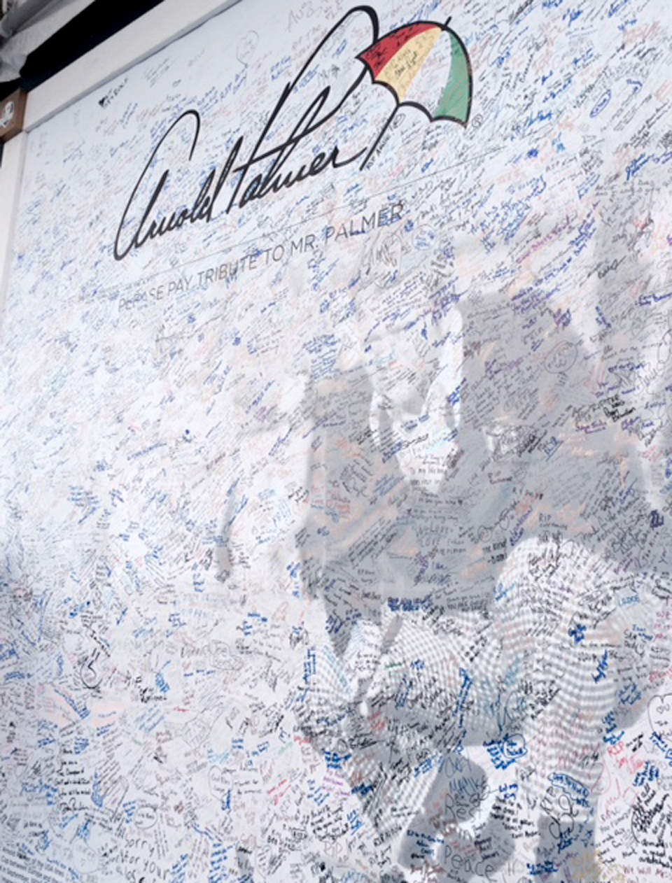 One of the posters is already full of signatures from Ryder Cup fans.