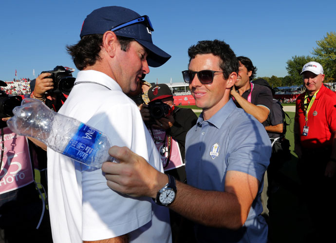 Bubba Watson joined the U.S. Ryder Cup effort as a vice captain after failing to make the team as a player.
