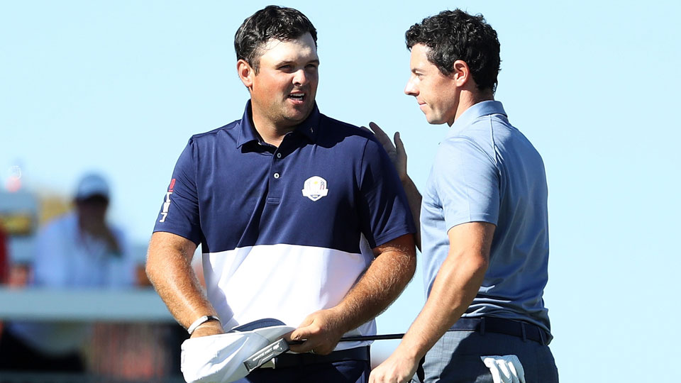 Rory McIlroy congratulated Patrick Reed after Reed won their singles match 1-up.