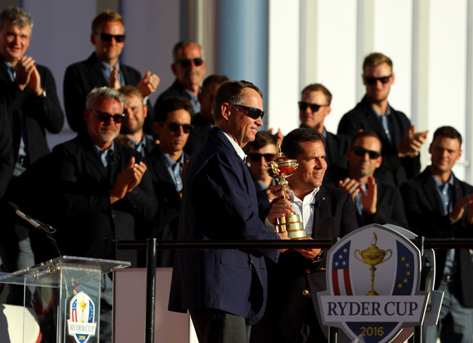 It took Davis Love's two stints as captain to capture the Ryder Cup for the U.S.