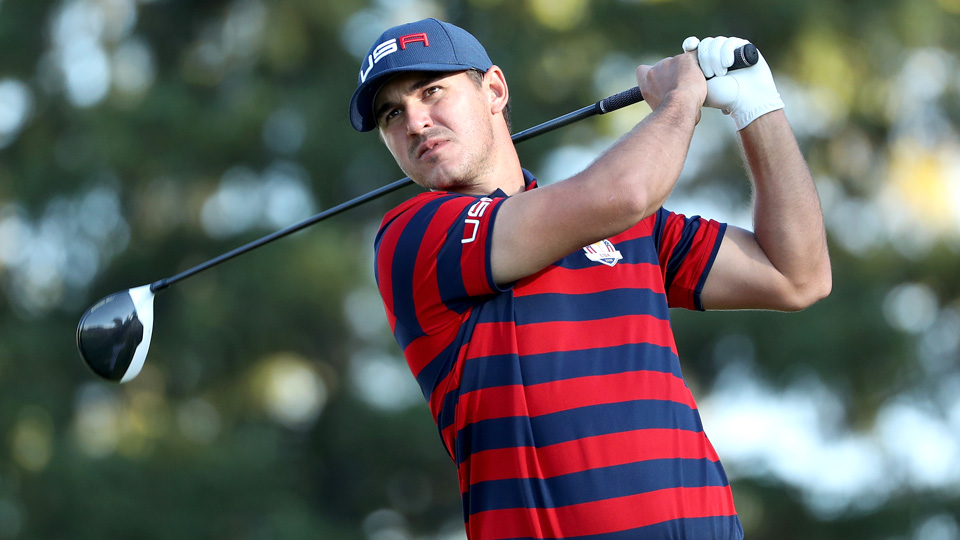 In his Ryder Cup debut, Brooks Koepka paired with Brandt Snedeker twice and won both times. He also won easily versus Danny Willett on Sunday.