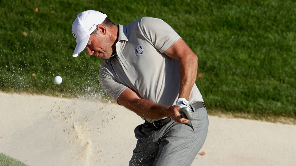 Ryder Cup mainstay Lee Westwood didn't earn a point at Hazeltine.