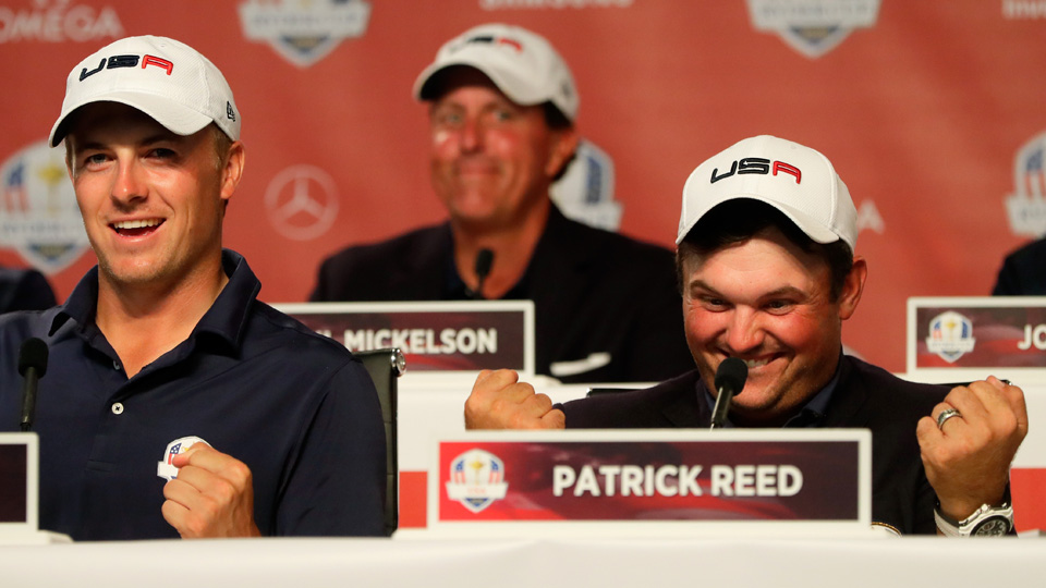 Patrick Reed and Jordan Spieth shared a laugh after their win.