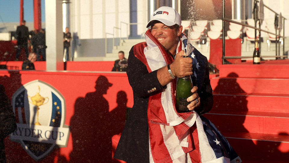 After the way Patrick Reed played at Hazeltine, he had reason to celebrate.
