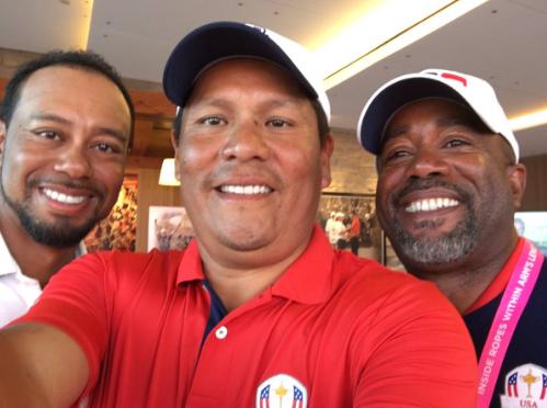 Tiger Woods, Notah Begay & Darius Rucker