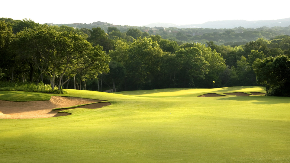 The 2nd hole of the Fazio Canyons Course on Omni Barton Creek Resort.
