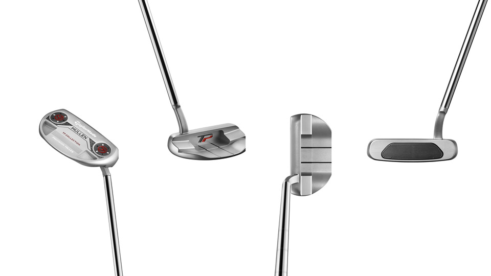 Four different views of the new TaylorMade TP Mullen putter.