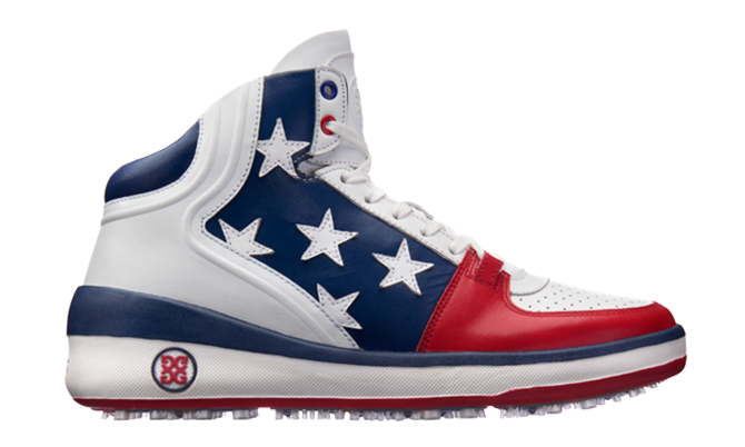 The GFore Crusader Limited Edition Stars & Stripes Golf Shoe.