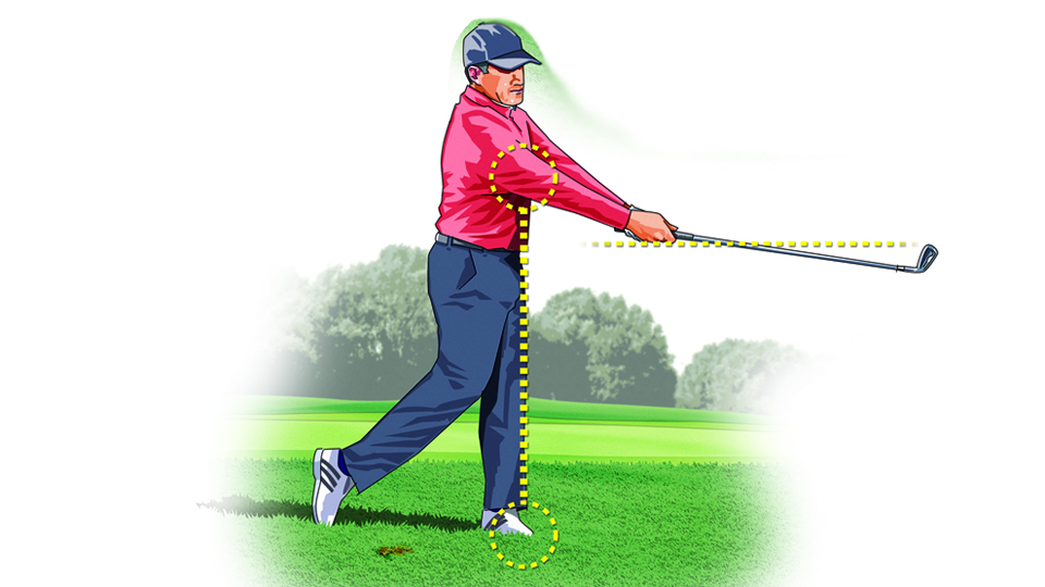 To keep the ball on a low, running trajectory, stop your follow-through at about waist height and get your chest facing the target.