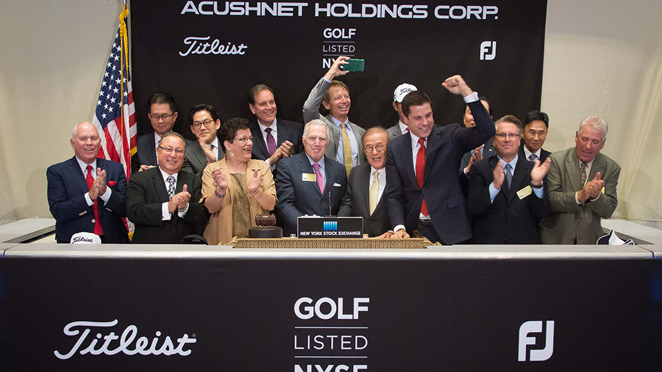 Acushnet Holdings' initial public offering, trading under the appropriate ticker symbol GOLF, opened at $17 a share on Oct. 28, 2016.