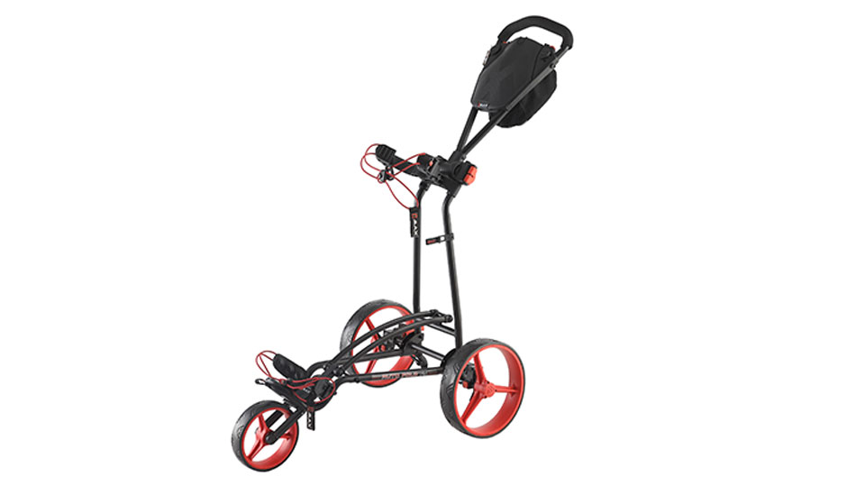 Big Max's FF push cart has an easy open-and-fold design.