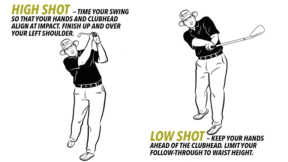 Playing a game of High-Low can help you learn proper ball flight with your wedges.