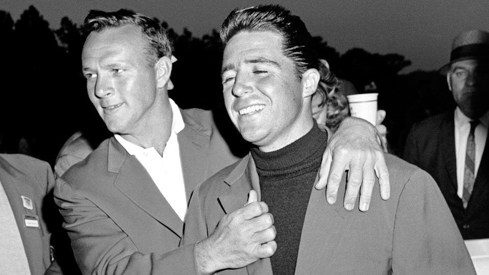 At the '61 Masters, Gary Player (right) didn't so much win his first green jacket as accept it after Palmer double-bogeyed the 72nd hole.