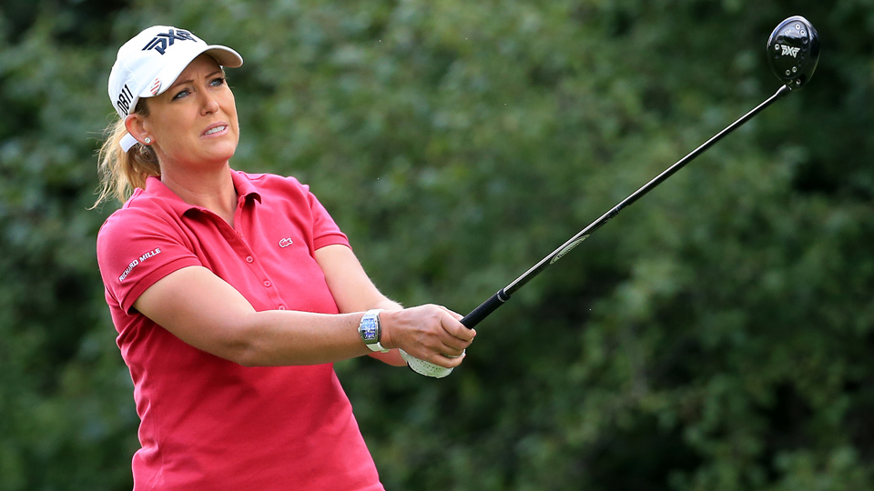 "Cristie Kerr says she is ""really happy"" her friend, Donald Trump, won the presidential election."