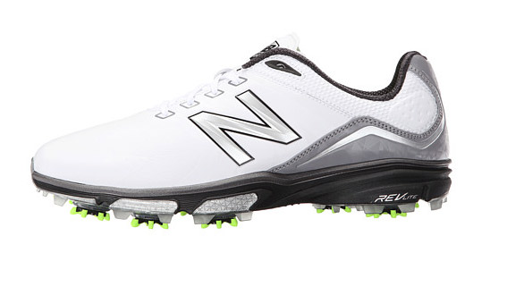 "The lightweight, responsive foam midsole was originally designed for marathon runners, making the NBG3001 a great option for walking 18. A waterproof upper -- microfiber leather with thin, supportive overlays -- combines with a flexible forefoot to increase your foot's motility during the swing. And nine Champ Zarma Tour cleats boost traction.  <a href=""http://www.anrdoezrs.net/links/7937464/type/dlg/sid/GOLFNewShoes/http://www.zappos.com/p/new-balance-golf-nbg3001-white-green/product/8652719/color/2537?ef_id=WJin0QAAAbR@gHFR:20170207155207:s"" target=""blank"">BUY NOW</a>"