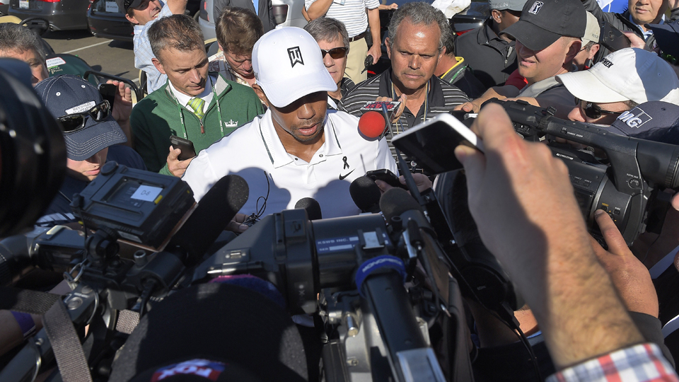 Tiger Woods never fails to draw a crowd.