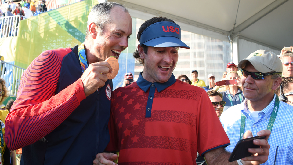 Matt Kuchar left Rio with a gold medal, and a big smile.
