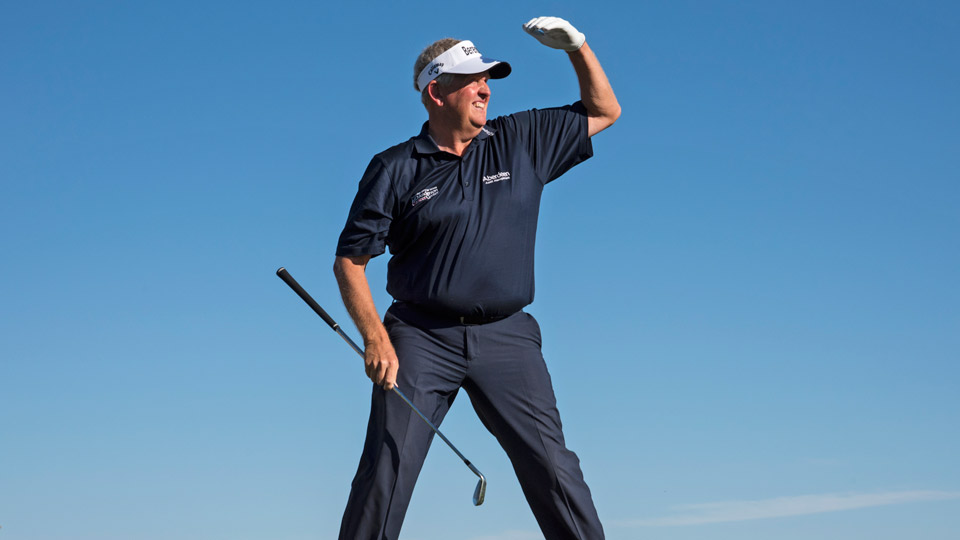 Is one of your Thanksgiving dinner companions ready to go up against Colin Montgomerie on the Champions tour?