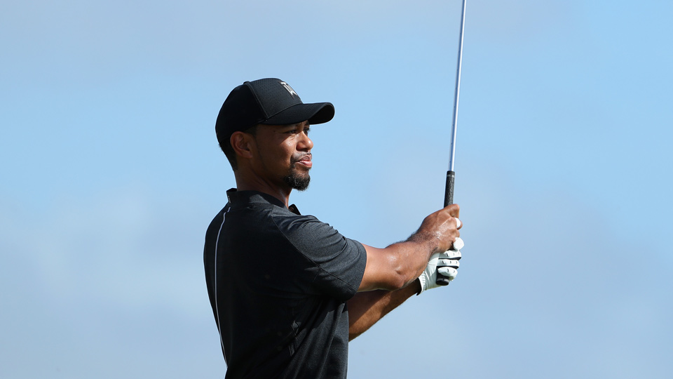 Tiger Woods shot a one-over 73 in his return to competition on Thursday.