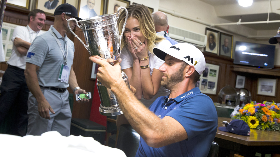 Paulina was awed by Dustin's Oakmont performance, and the U.S. Open trophy itself.