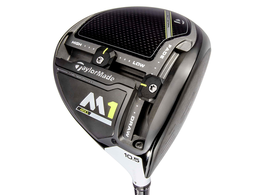 The TaylorMade M1 driver has movable weights to adjust loft, spin and shot shape.