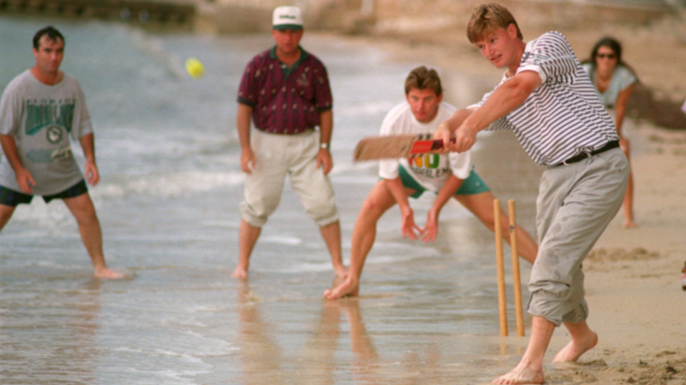 Ernie Els, shown here in 1994, even made cricket look easy.