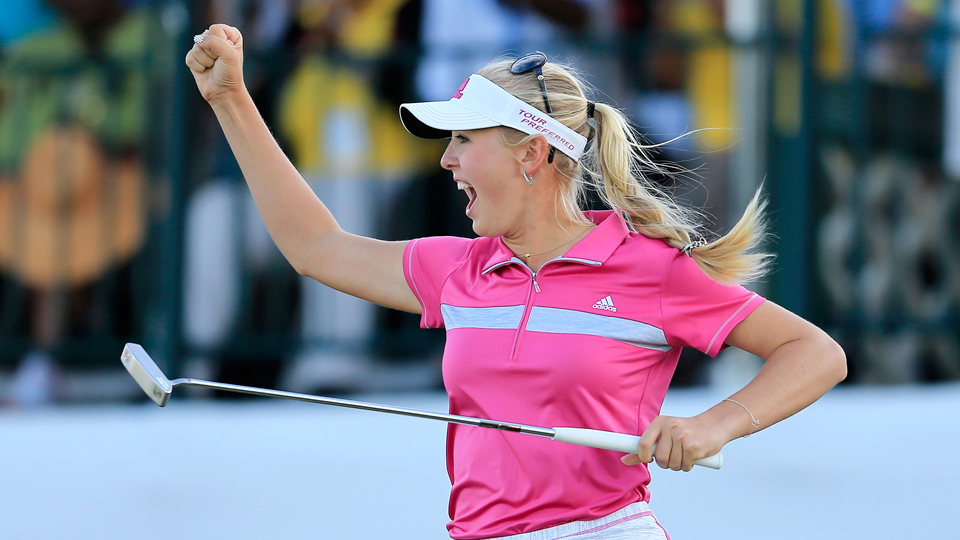 Jessica Korda, a four-time winner on the LPGA, is the daughter of two former tennis pros.