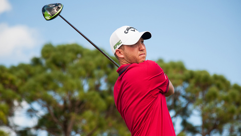 Daniel Berger pictured with his new Callaway driver.