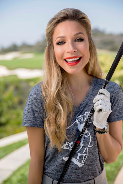 """""""I definitely started out because of my dad. It was just a great way for us to have fun together on the golf course. We didn't have to talk too much because you have to be quiet on the golf course, so it was perfect."""""""