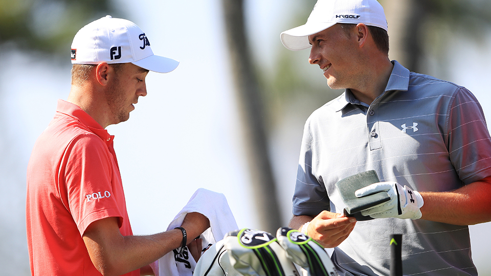 Don't look now, Jordan, but Justin Thomas is slowly gaining ground in the world ranking.