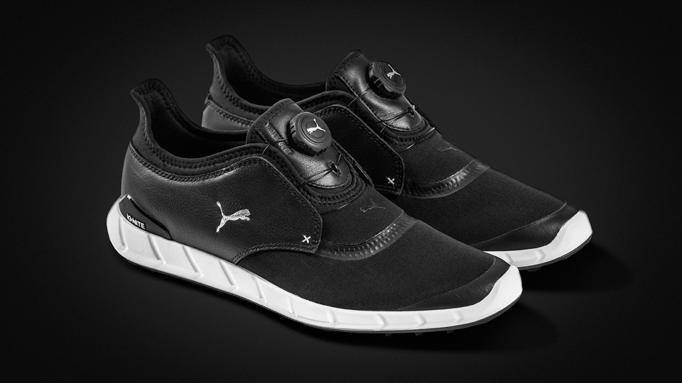 Puma TitanTour Ignite Spikeless Sport Disc golf shoes.