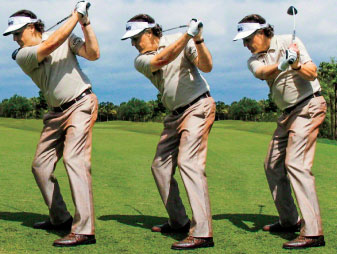Going from too long (left) to too narrow (right) cost Phil Mickelson many majors.