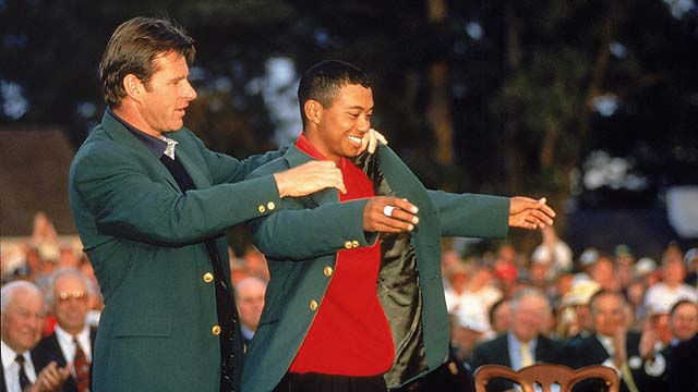 Tiger Woods was struggling in the first round of the 1997 Masters until he got a swing thought on his walk to the 10th tee. He made birdie there, shot 30 on the back nine and played the tournament's last 63 holes in 22 under