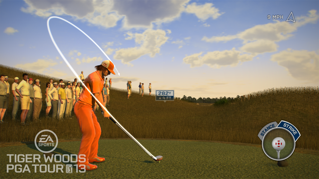 Rickie Fowler                       Fowler appears with Woods on the cover of the game, which will be the first-ever sports simulation for the Kinect for Xbox 360. Gamers will be able to pick their favorite PGA Tour players and try to fill their shoes without a controller.