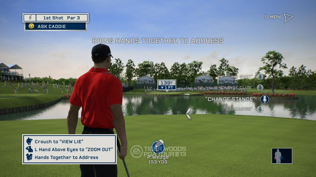 Total Swing Control                   Another new feature is something called total swing control. For the first time, a gamer's swing tempo will directly influence the power of the shot.