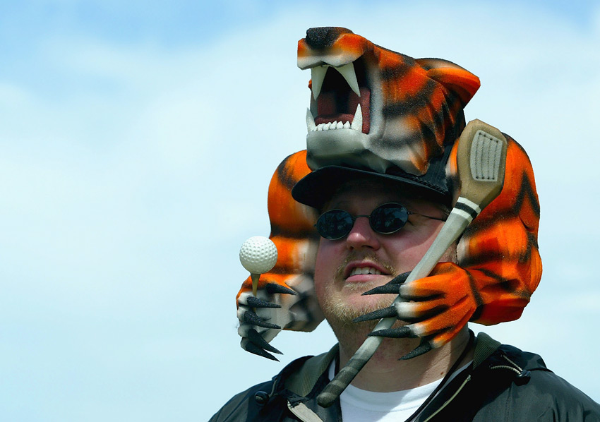 Nate Lauber opted for Tiger headgear at the 2003 U.S. Open at Olympia Fields.
