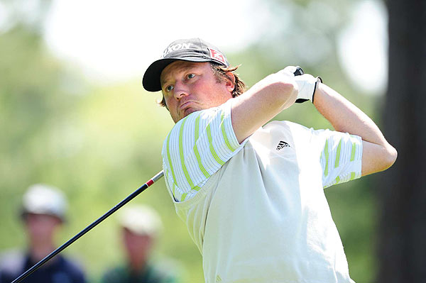 Tim Clark's early 4-under 68 left him three strokes off the lead after the first day.