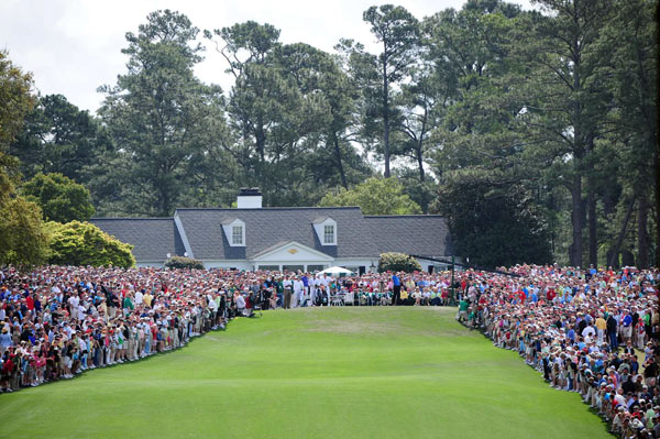 Second Round of the Masters                       Tiger Woods had the crowd's full attention when he teed off Friday at 10:45 a.m.