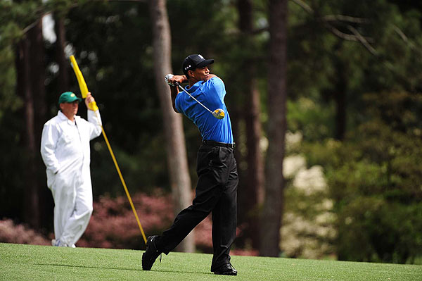 As he did in the first round, Woods parred his first five holes on Friday.