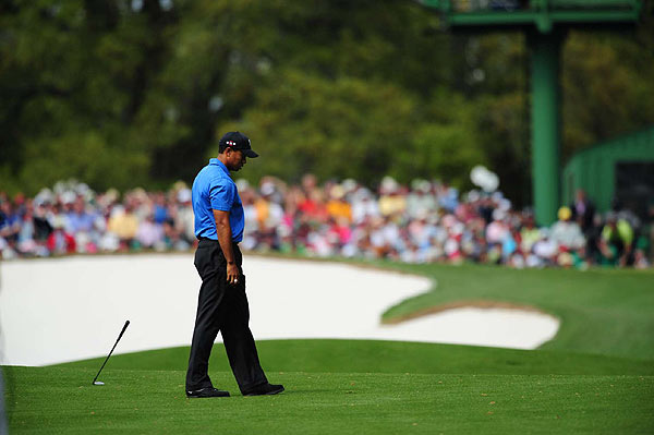 Woods made a bogey on the 18th to move to two under par for the tournament.