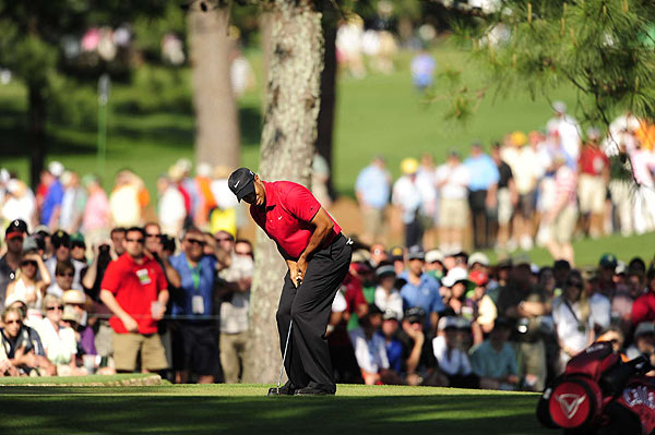 Woods let his chances for a fifth green jacket slip away when he closed with bogeys on 17 and 18.